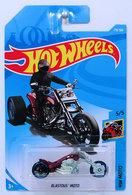 Blastous Moto | Model Motorcycles | HW 2018 - Collector # 179/365 - HW Moto 5/5 - Blastous Moto - Dark Red - International Long Card