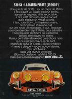 530 SX: La Matra Pirate (19 900 F)* | Print Ads