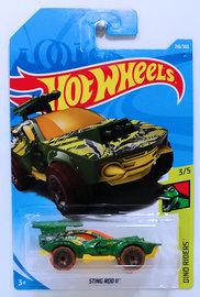 Sting Rod II | Model Cars | HW 2018 - Collector # 210 - Dino Riders 3/5 - Sting Rod II - Green - International Long Card