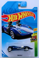 Twin Mill | Model Cars | HW 2018 - Collector # 194/365 - HW Exotics 3/10 - Twin Mill - Blue - International Long Card