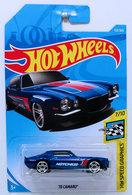 '70 Camaro | Model Cars | HW 2018 - Collector # 153/365 - HW Speed Graphics 7/10 - '70 Camaro - Blue - International Long Card