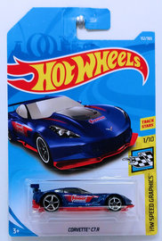 Corvette C7.R | Model Cars | HW 2018 - Collector # 152/365 - HW Speed Graphics 1/10 - Corvette C7.R - Blue / Summit Racing Equipment - International Long Card