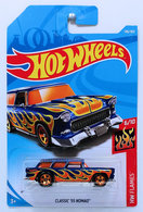 Classic 55 Nomad | Model Cars | HW 2018 - Collector # 146/365 - HW Flames 6/10 - Classic '55 Nomad - Blue - International Long Card