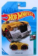 Chrysler 300C (Blings) | Model Cars | HW 2018 - Collector # 156/365 - Tooned 2/5 - Chrysler 300C - Gold - International Long Card