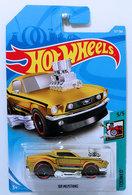 '68 Mustang  | Model Cars | HW 2018 - Collector # 157/365 - Tooned 5/5 - '68 Mustang - Dark Gold - International Long Card
