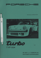 Porsche Turbo 934 Technical Instructions | Manuals & Instructions