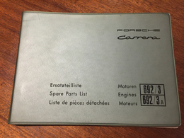 Porsche Carrera 692 Engine Spare Parts List | Manuals & Instructions