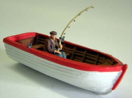 Fisherman In Boat | Model Ships and Other Watercraft