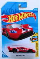 2016 Ford GT Race | Model Racing Cars | HW 2018 - Collector # 195/365 - Legends of Speed 4/10 - 2016 Ford GT Race - Red - International Long Card
