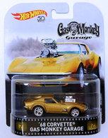 '68 Corvette - Gas Monkey Garage | Model Cars | HW 2018 - Replica Entertainment # FLD15 - '68 Corvette - Gas Monkey Garage - Gold Metal Flake - Metal/Metal & Real Riders