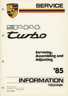 Porsche 944 Turbo Service Information '85 | Manuals & Instructions