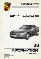 Porsche 944 Turbo S Service Information '88 | Manuals & Instructions