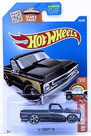 '67 Chevy C10   Model Trucks   HW 2016 - Collector # 143/250 - HW Hot Trucks 3/10 - '67 Chevy C10 - Black - USA Card