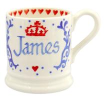 Royal Baby Blue Personalised 1/2 Pint Mug - Emma Bridgewater   Ceramics   Royal Baby Mug Blue