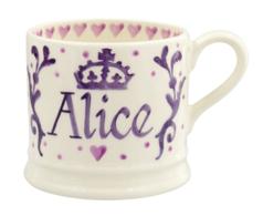 Royal Baby Purple Personalised Small Mug - Emma Bridgewater   Ceramics   Royal Baby Small Mug