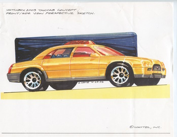 Matchbox 2003 Taxi Cab Concept Sketch | Drawings & Paintings