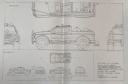 2003 Rescue 4x4 Truck Preliminary Control Drawing | Drawings & Paintings