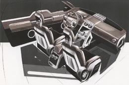 Matchbox GMC Terradyne Interior Concept Sketch | Drawings & Paintings
