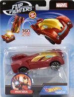 Iron Man | Model Cars | Hot Wheels Marvel Comics Flip Fighters Iron Man U.S.A. Card