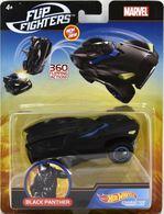 Black Panther | Model Cars | Hot Wheels Marvel Comics Flip Fighters Black Panther U.S.A. Card