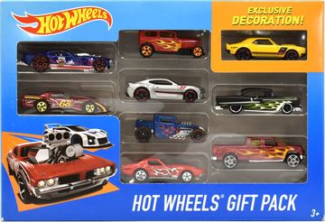 Hot Wheels Gift Pack | Model Vehicle Sets | Hot Wheels 9-Pack with Exclusive Yellow Copo Camaro