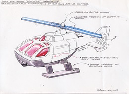 2003 Matchbox Helicopter Concept Sketch   Drawings & Paintings