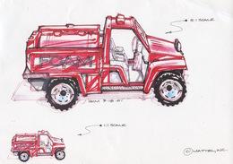 2002 Foam Fire Truck Concept Sketch   Drawings & Paintings