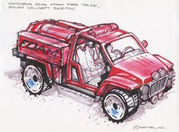 2002 Foam Fire Truck Rough Concept Sketch   Drawings & Paintings