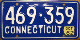 Connecticut passenger license plate license plates 748c59d6 a084 4da0 8937 e1cf9691d852 medium