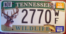 Tennessee Passenger License Plate | License Plates | Tennessee Deer Wildlife License Plate