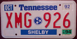 Tennessee Triple Stars License Plate | License Plates | Tennessee Triple Stars License Plate