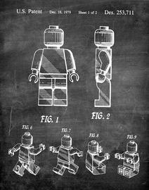 Print of the Original Lego Minifig Patent Application from 1979 | Posters & Prints