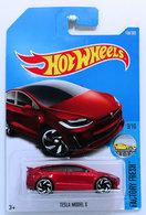 Tesla Model X | Model Cars | HW 2017 - Collector #196/365 - Factory Fresh 9/10 - Tesla Model X - Red - International Long Card