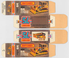Matchbox Miniatures Picture Box - L Type - Caterpillar D-9 Bulldozer | Collectible Packaging