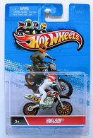 HW450F | Model Motorcycles | HW 2012 - Motor Cycles - Toy # X2090 - HW450F - White - Removable Rider - New Card