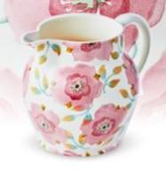 Waitrose Pink Hellebore  1 1/2 Pint Jug - Emma Bridgewater    Ceramics   Pink Hellebore 1 1/2 Pint Jug