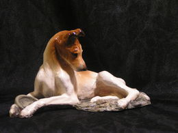 Ron Hevener Smooth Collie Dog Figurine | Statues & Busts