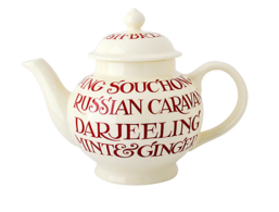 John Lewis Red Toast 4 Mug Teapot - Emma Bridgewater   Ceramics   Red Toast 4 Mug Teapot