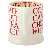 John Lewis Red Toast Half Pint Mug - Emma Bridgewater   Ceramics   Red Toast Half Pint Mug