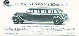 The Siebert Ford V-8 Sedan Bus  | Print Ads