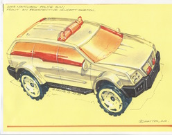 2003 Matchbox Police SUV Front 3/4 Perspective Concept Sketch   Drawings & Paintings