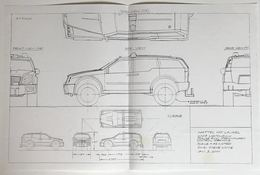 2003 Matchbox Police SUV Preliminary Control Drawing   Drawings & Paintings