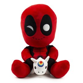 Deadpool Riding a Unicorn (16-Inch) | Plush Toys
