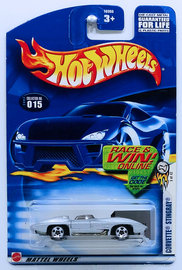 Corvette Stingray | Model Cars | HW 2003 - Collector # 015/220 - First Editions 03/42 - Corvette Stingray - Silver - USA 'Race & Win' Card