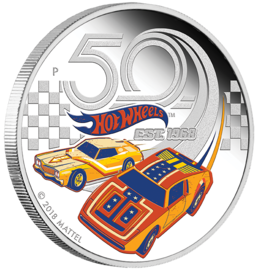 50 Years of Hot Wheels 2018 Silver Proof Coin | Coins & Currency