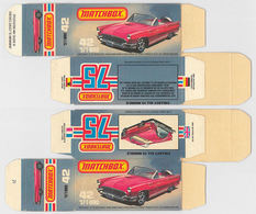 Matchbox Miniatures Picture Box - L Type - 1957 Ford Thunderbird | Collectible Packaging