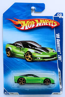 '09 Corvette ZR1 | Model Cars | HW 2009 - Collector # 135/190 - Faster Than Ever 9/10 - '09 Corvette ZR1 - Lime Green - FTE - USA Card
