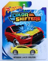Mitsubishi Lancer Evolution | Model Cars | HW 2018 - Color Shifters - MITSUBISHI LANCER EVOLUTION - Yellow & Red