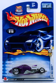 1/4 Mile Coupe | Model Cars | HW 2003 - Collector # 019/220 - First Editions 7/42 - ¼ Mile Coupe - Purple - USA '35th Anniversary' Card