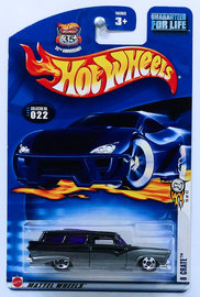 8 Crate | Model Cars | HW 2003 - Collector # 022 - First Editions 10/42 - 8 Crate - Black/Gray - USA '35th Anniversary' Card